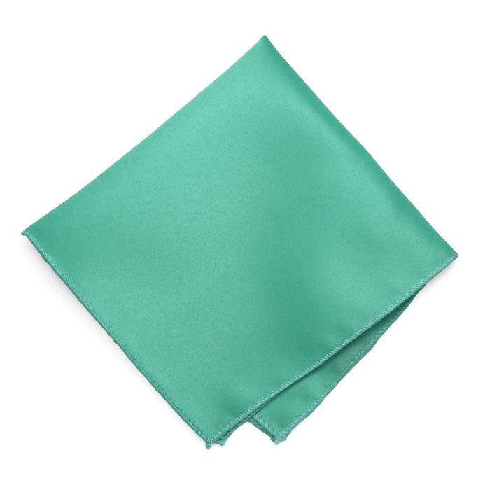 Aquamarine Solid Color Pocket Square
