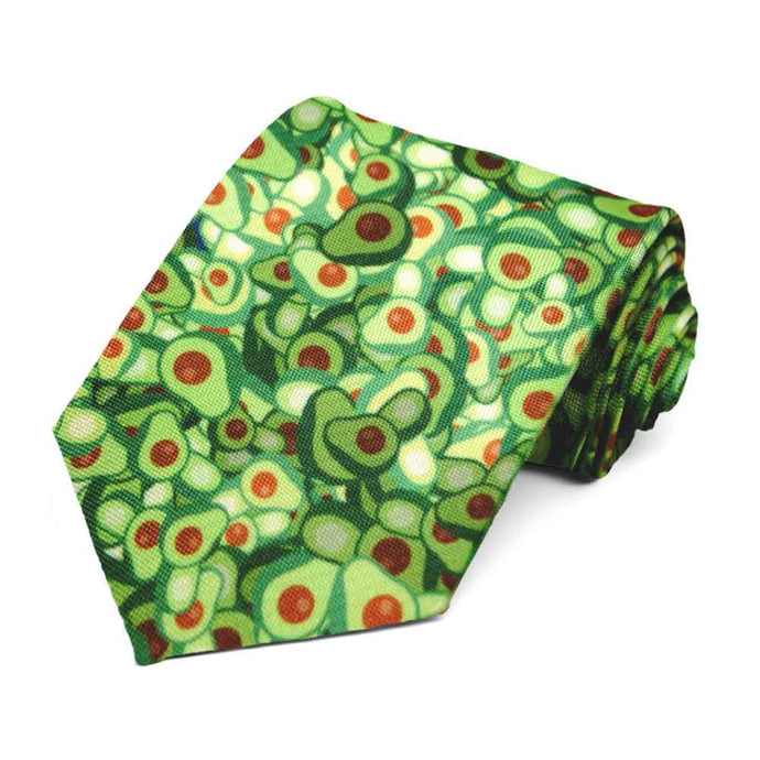 A random array of avocados on a necktie.