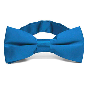 Azure Blue Band Collar Bow Tie
