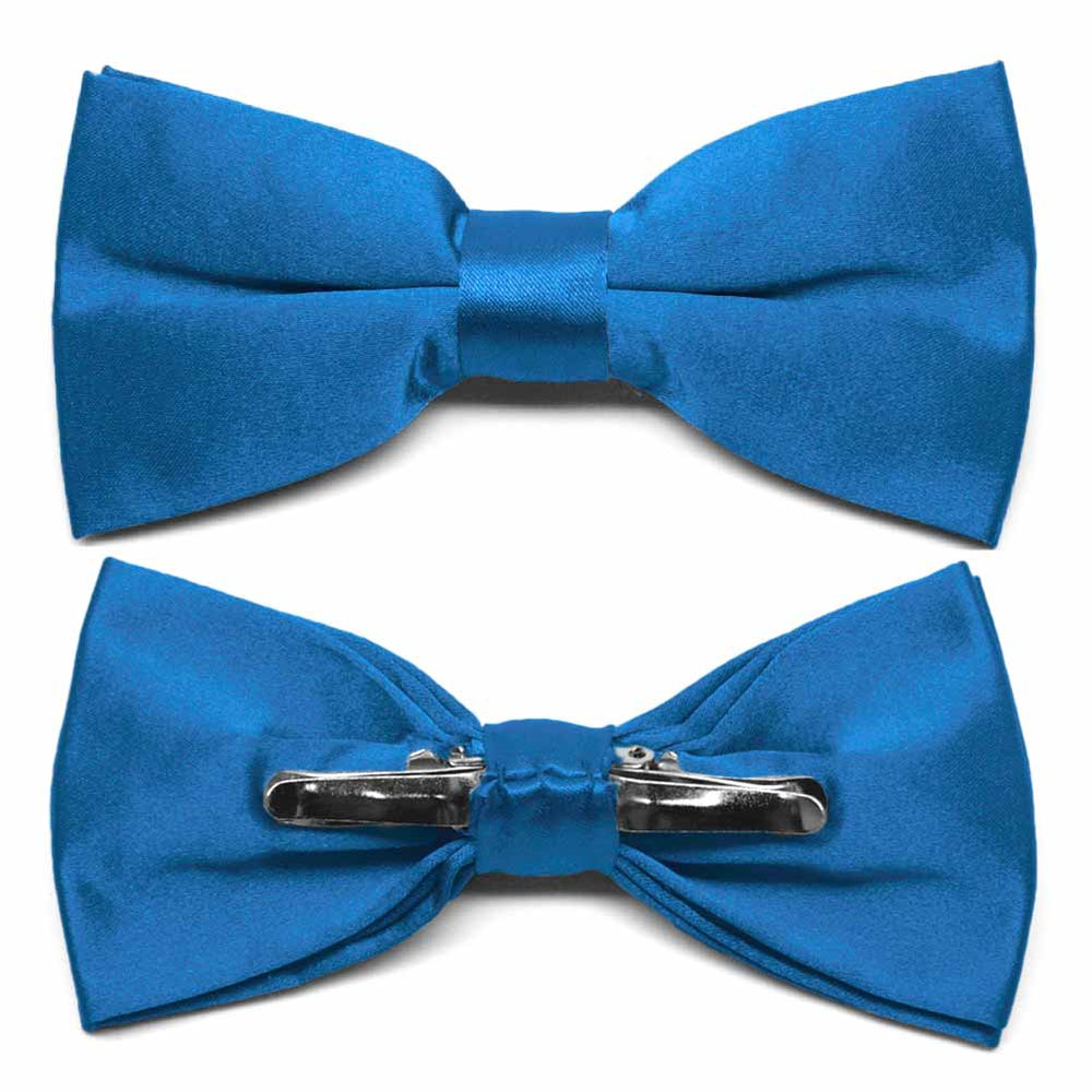 Azure Blue Clip-On Bow Tie