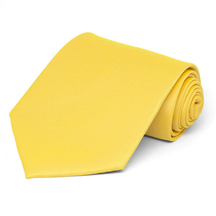 Banana Yellow Solid Color Necktie