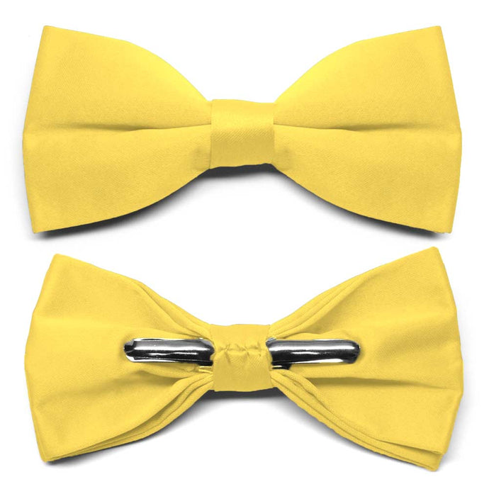 Banana Yellow Clip-On Bow Tie
