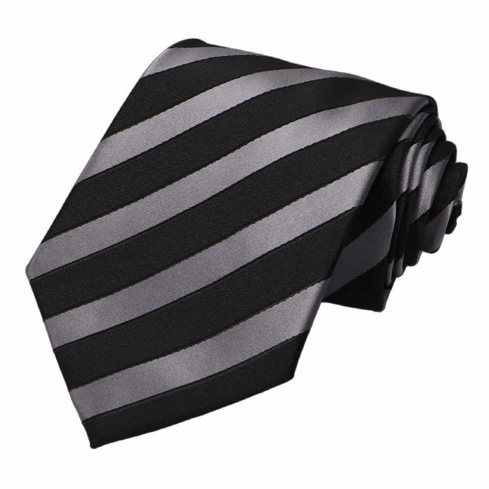 Black and Gray Jarbridge Striped Necktie