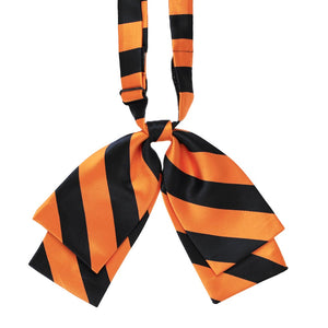 Orange and Black Striped Floppy Bow Tie