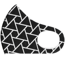 Load image into Gallery viewer, Black Geometric Triangle Face Mask