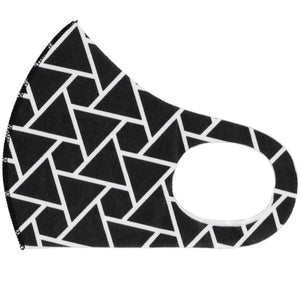 Black Geometric Triangle Face Mask