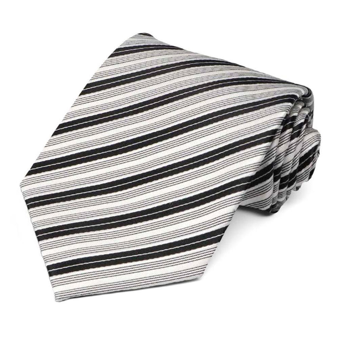 Black Washington Striped Necktie