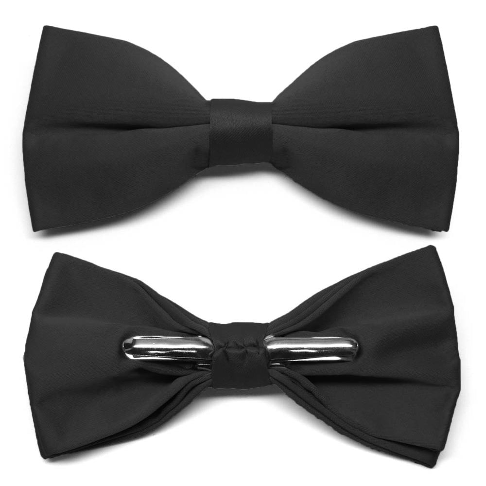 Black Clip-On Bow Tie