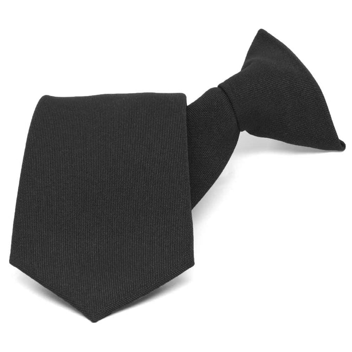 Black Clip-On Uniform Tie