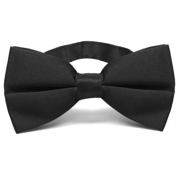 Black Extra Wide Band Collar Bow Tie