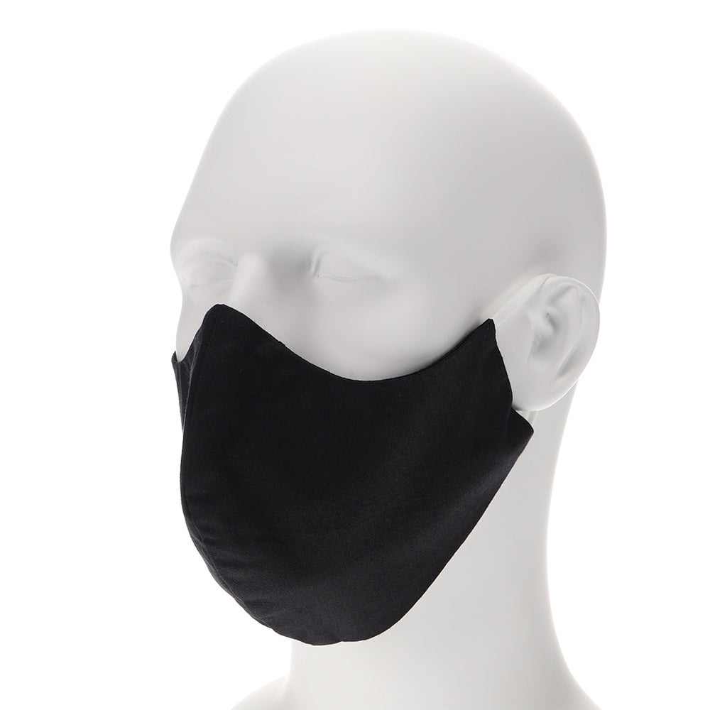 Black face mask on mannequin