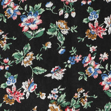 Load image into Gallery viewer, Black floral fabric