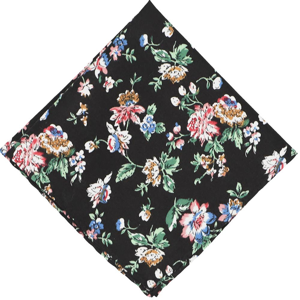 Stanton Floral Cotton Pocket Square