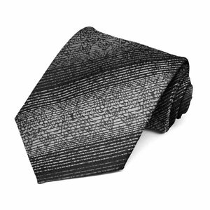 Black Pattern Neckties, 6-Pack