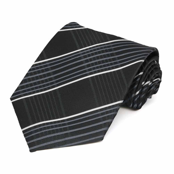 Black Jeffrey Plaid Necktie