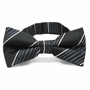 Black Jeffrey Plaid Band Collar Bow Tie