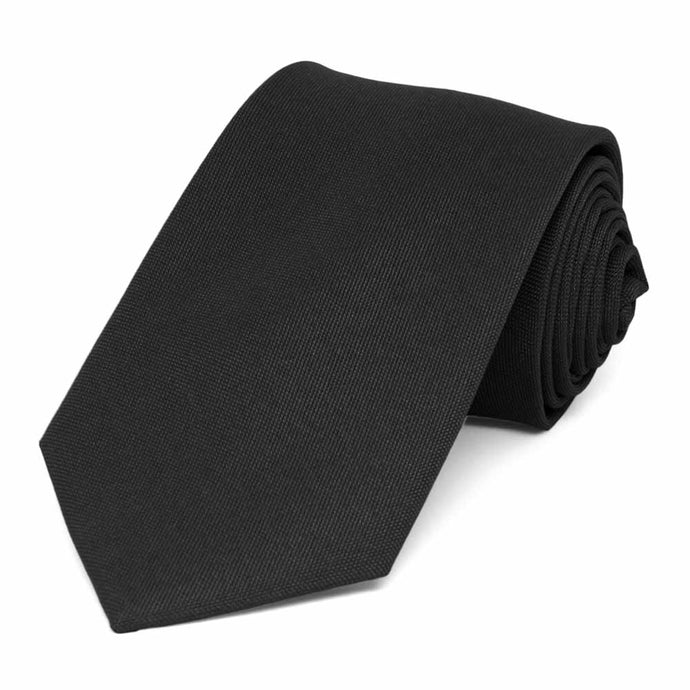 Black Matte Finish Necktie, 3