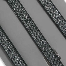 Load image into Gallery viewer, Boys' Black Metallic Skinny Suspenders