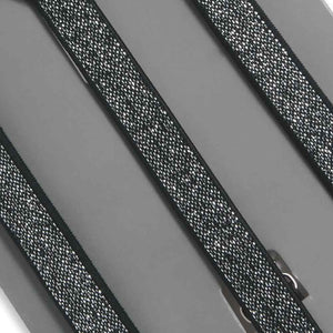 Boys' Black Metallic Skinny Suspenders