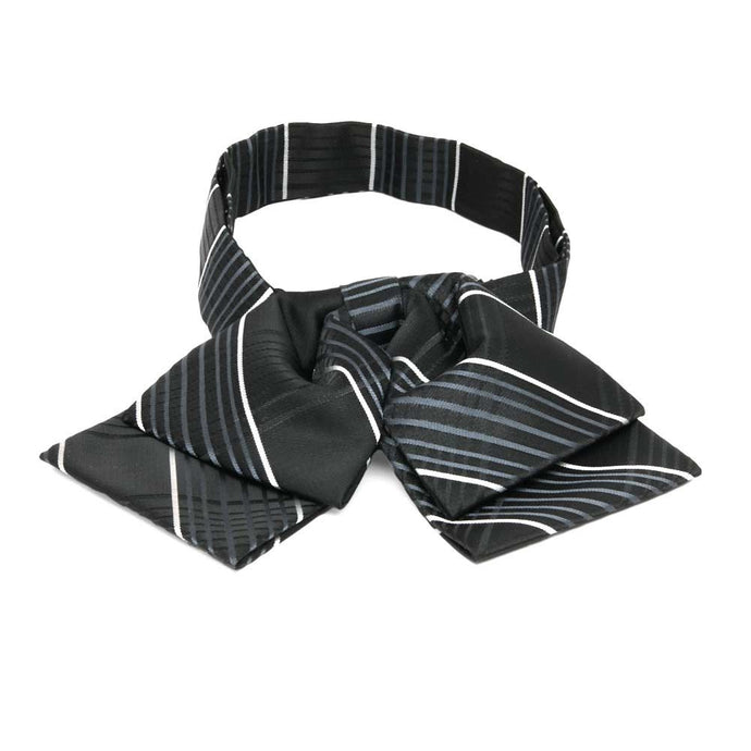 Black Jeffrey Plaid Floppy Bow Tie