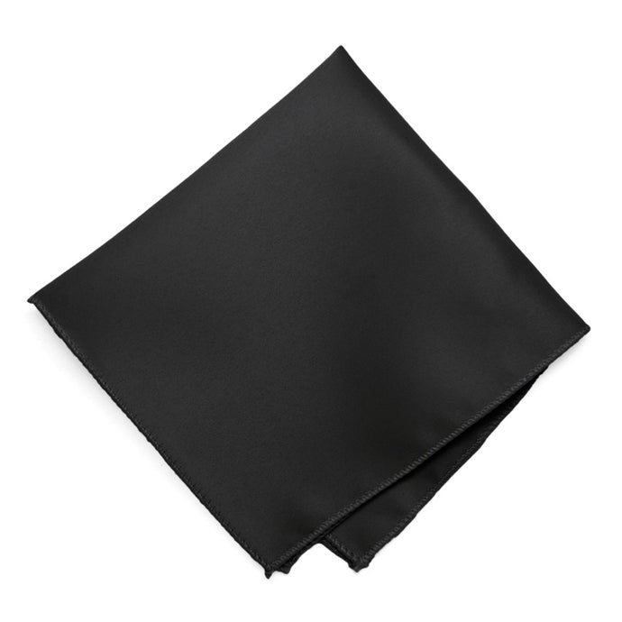 Black Solid Color Pocket Square