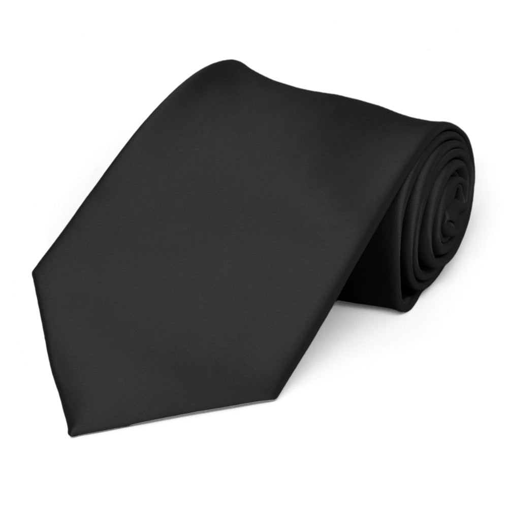 Black Premium Solid Color Necktie