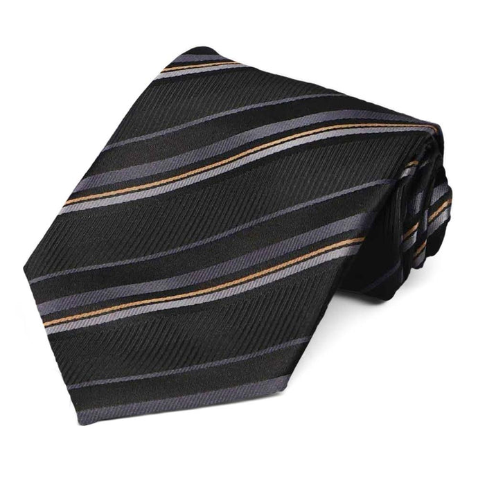 Black striped pattern tie