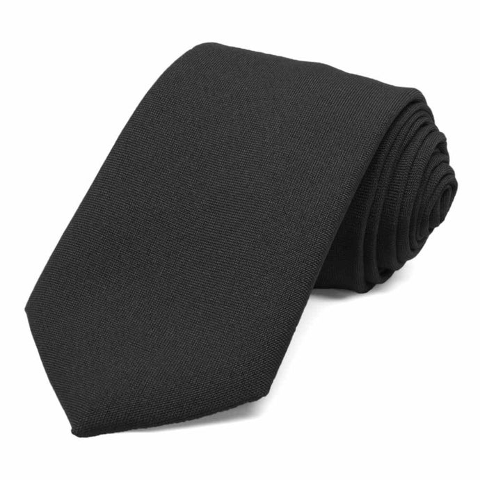 Men's Black Uniform Necktie