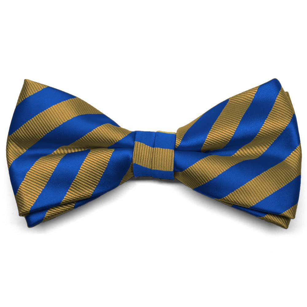 blue and old gold formal bow tie