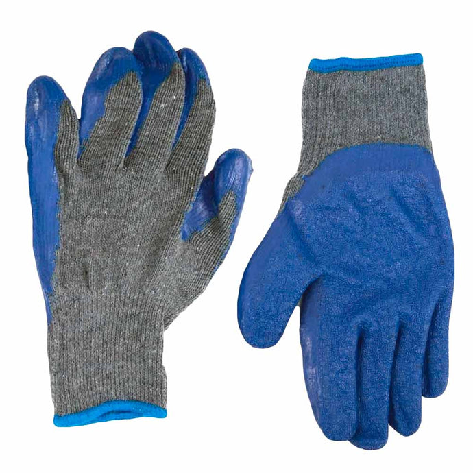 Blue and Gray Gardening Gloves