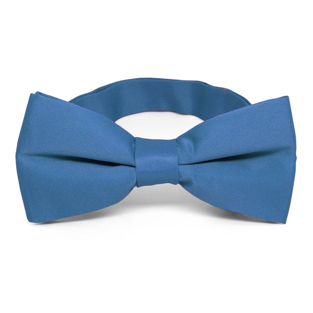 Blue Band Collar Bow Tie