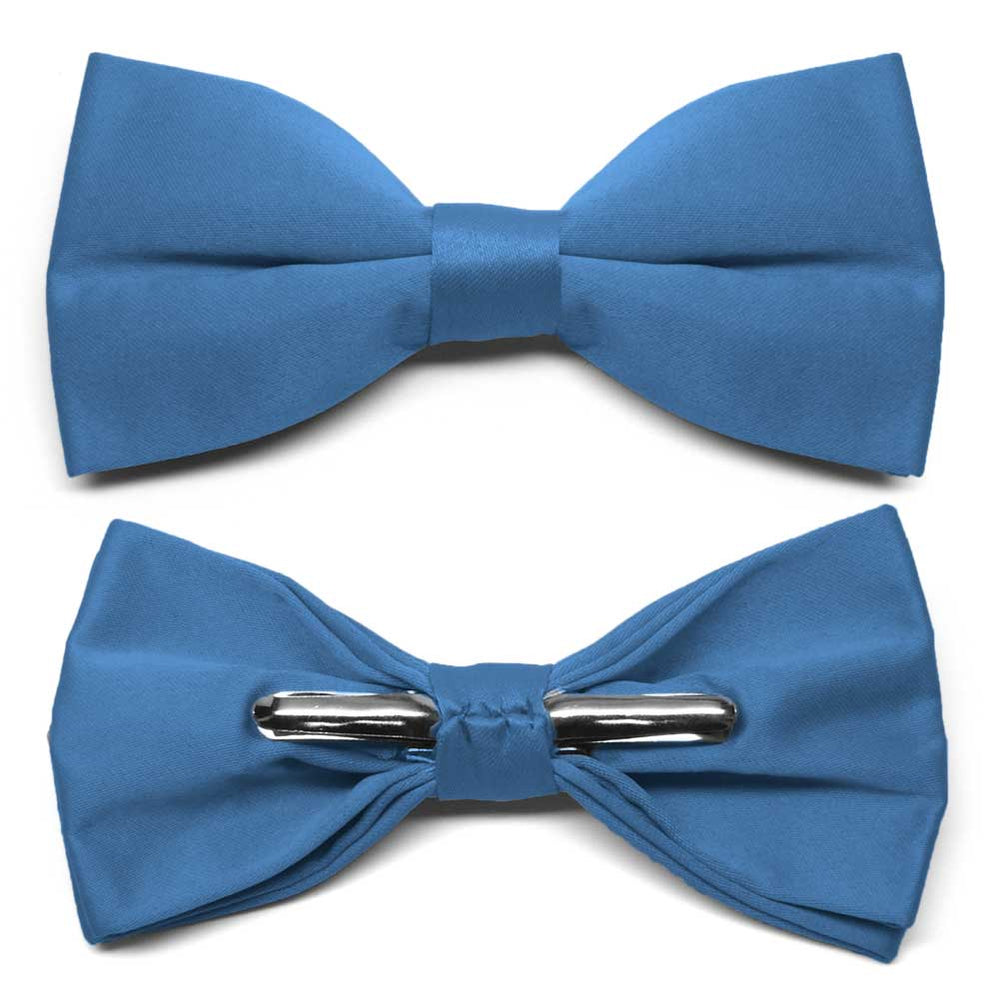 Blue Clip-On Bow Tie