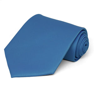 Blue Extra Long Solid Color Necktie