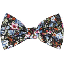 Load image into Gallery viewer, Blue floral cotton bow tie