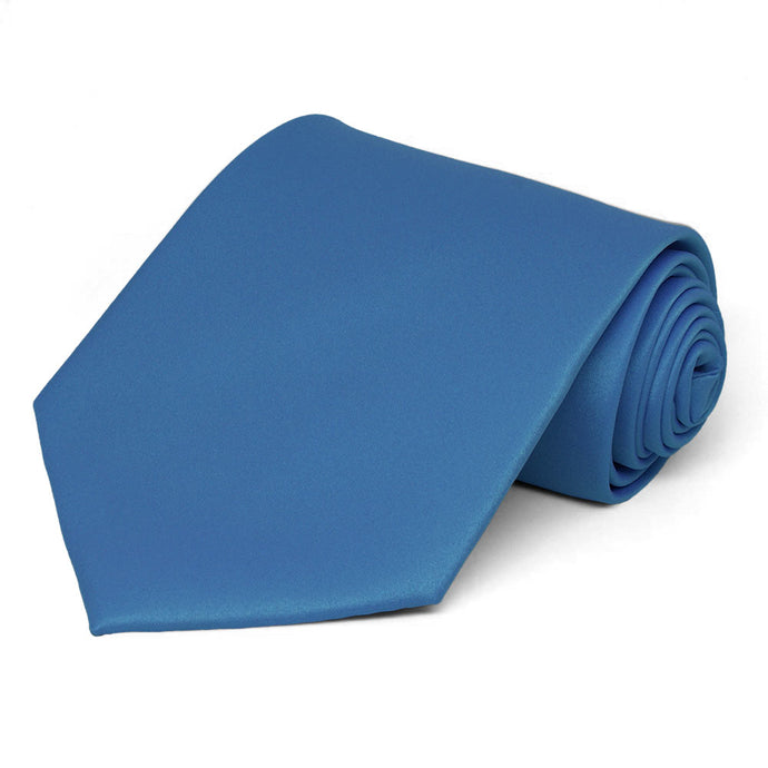 Blue Solid Color Necktie