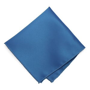 Blue Solid Color Pocket Square