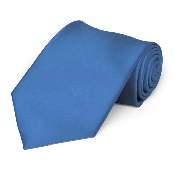 Blue Premium Solid Color Necktie