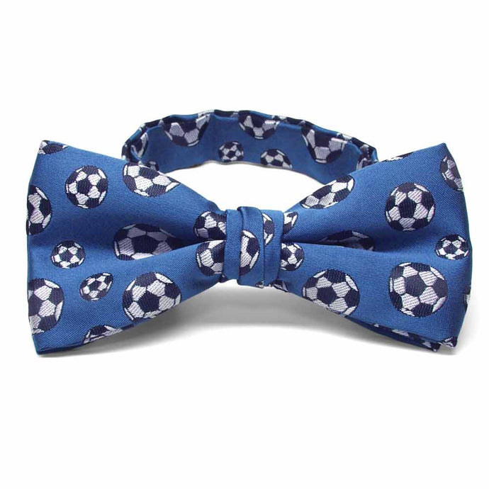 Blue Soccer Bow Tie