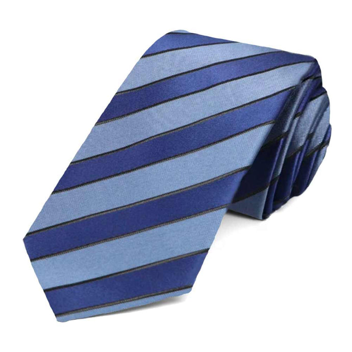 Blue Jarbridge Striped Slim Necktie
