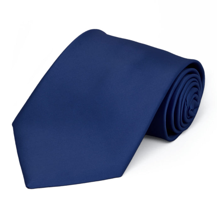 Blue Velvet Premium Solid Color Necktie