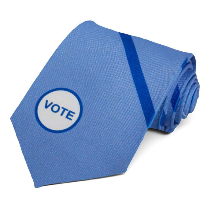 Blue vote striped tie