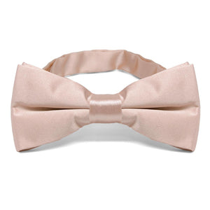 Blush Pink Band Collar Bow Tie