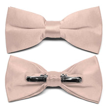 Load image into Gallery viewer, Blush Pink Clip-On Bow Tie