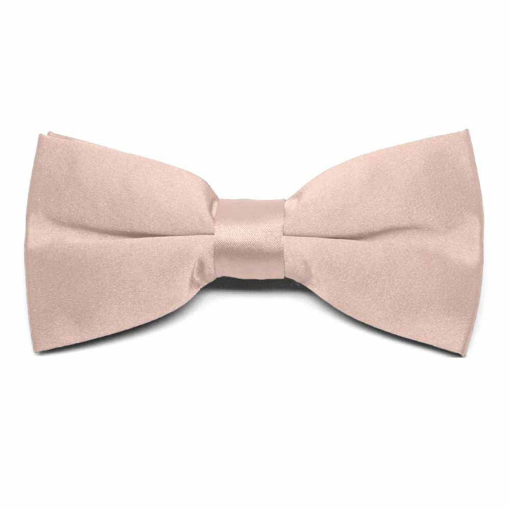 Blush Pink Clip-On Bow Tie