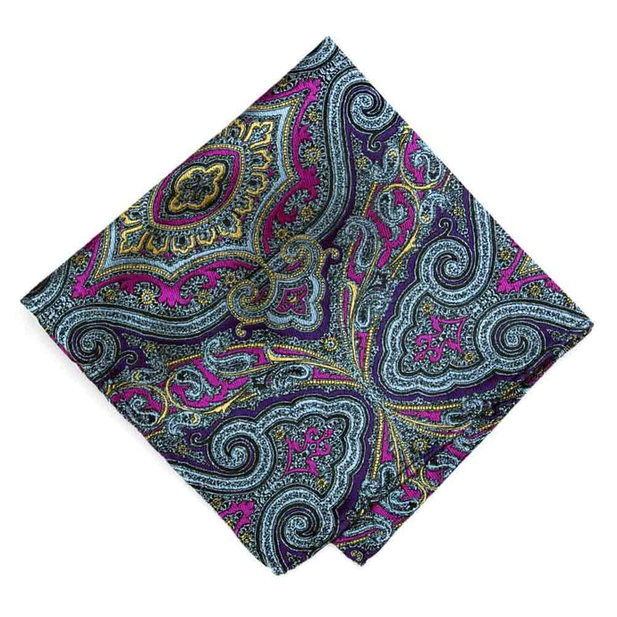 Institute Paisley Silk Pocket Square