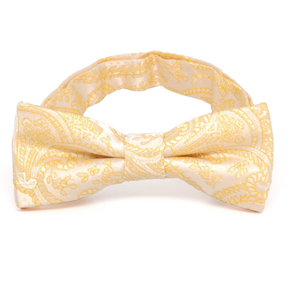 Boys' Soft Yellow Clara Paisley Bow Tie