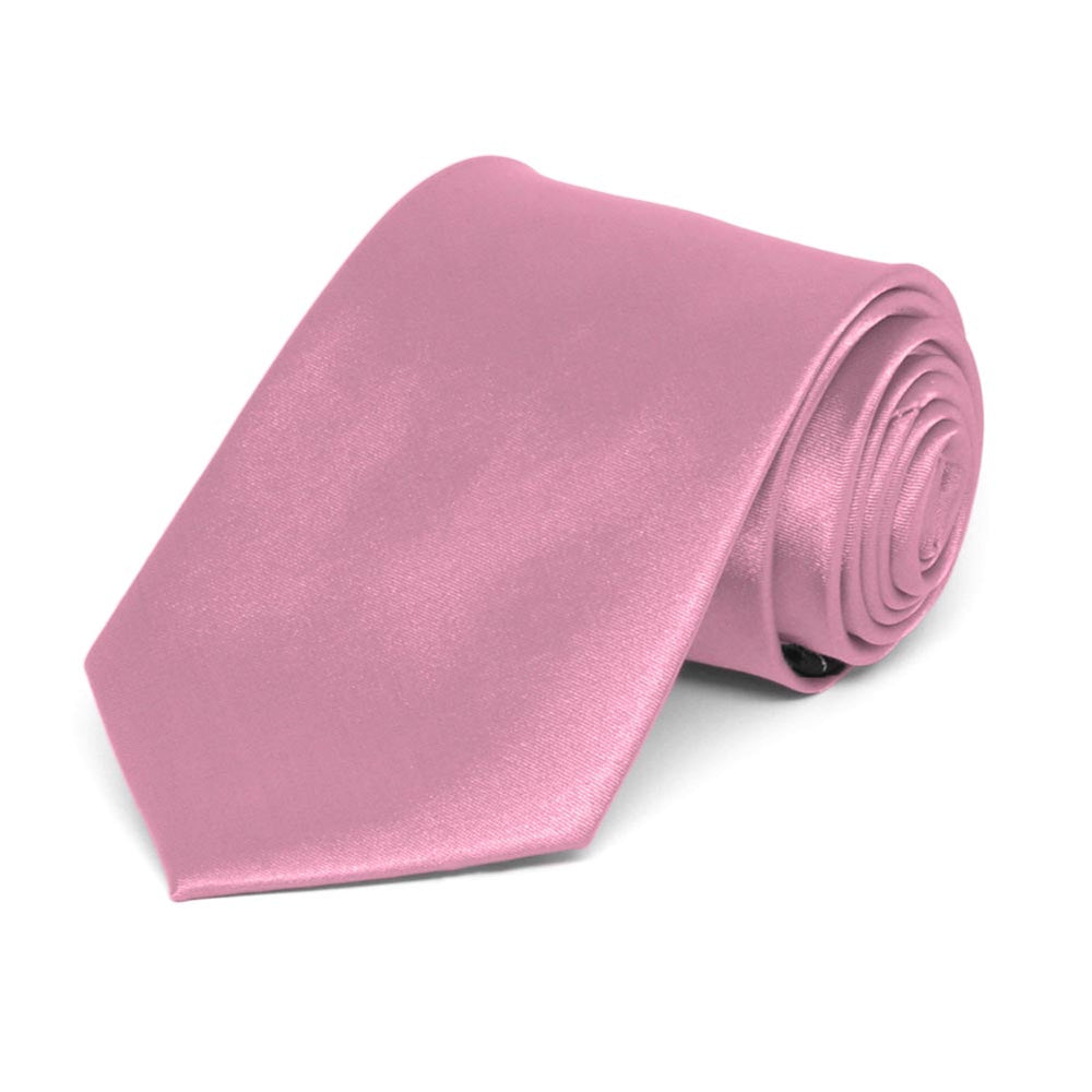 Boys' Antique Pink Solid Color Necktie