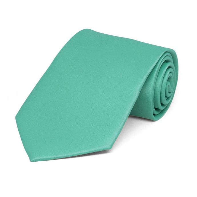 Boys' Aquamarine Solid Color Necktie