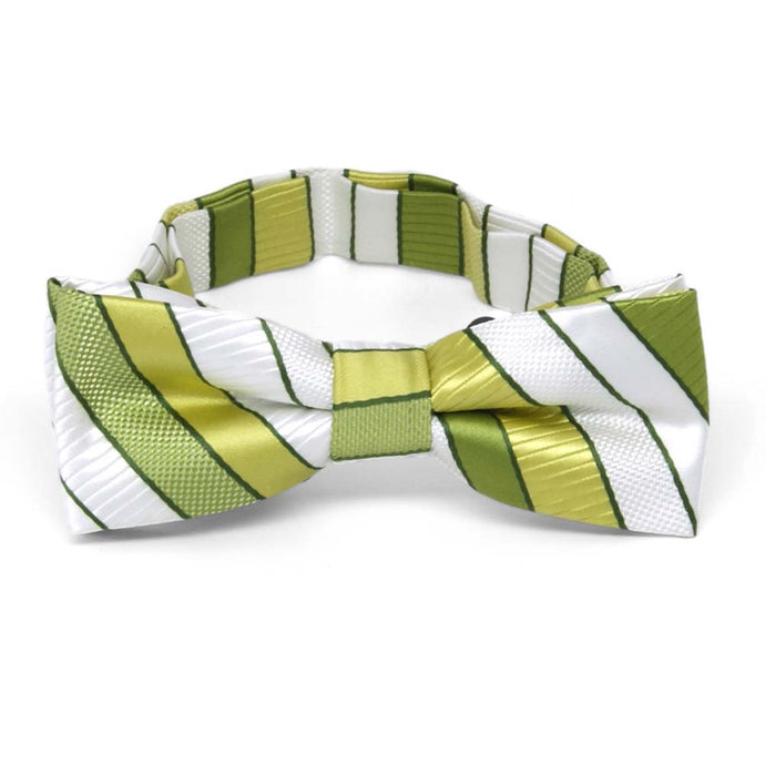 Boys' Asparagus Green Douglas Stripe Bow Tie