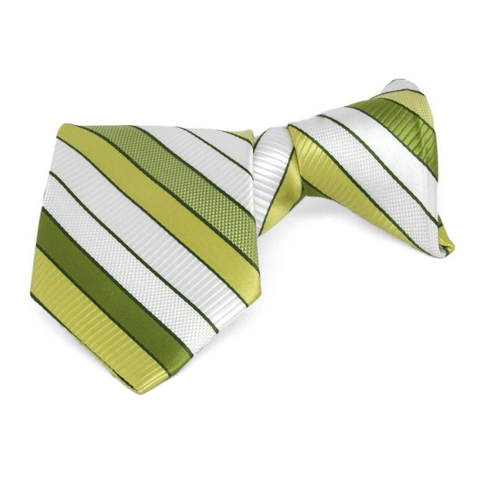 Boys' Asparagus Green Douglas Stripe Clip-On Tie